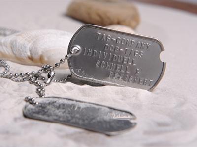 DOG TAG WW2, PAAR, Edelstahl